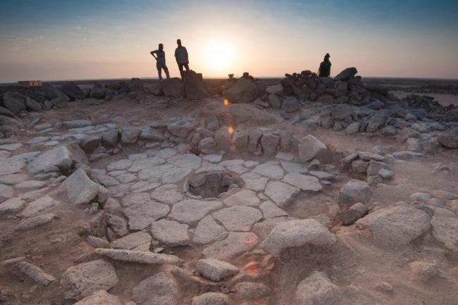 Stone fireplace at Shubayqa 1 site