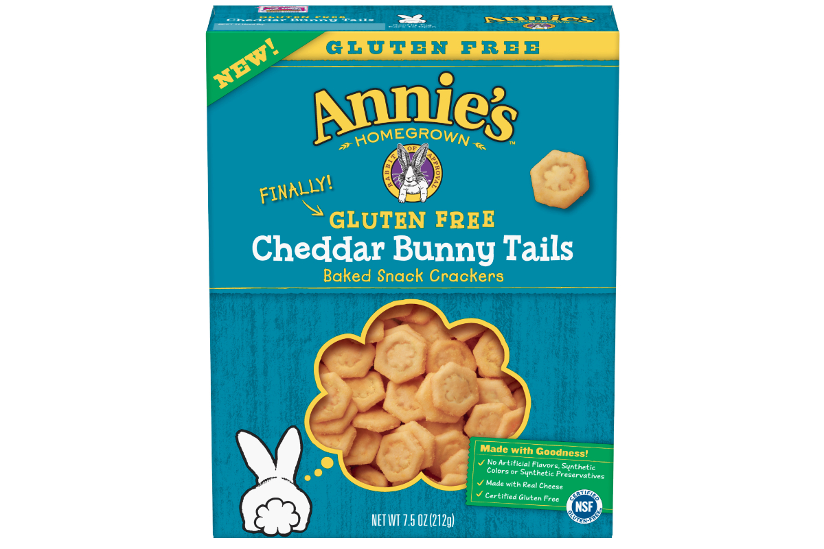 Annies gluten-free Cheddar Bunny Tails