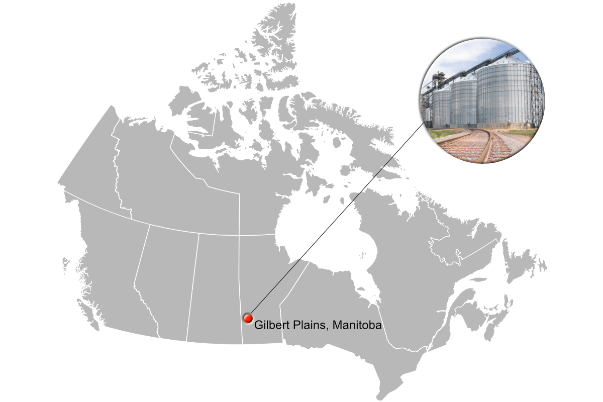 P&H new grain terminal in Gilbert Plains, Manitoba, Canada
