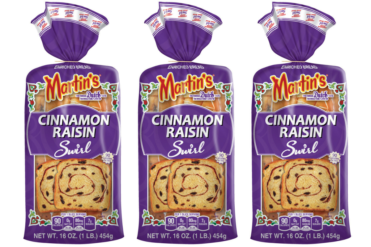 Martins Famous Cinnamon Raisin Swirl bread
