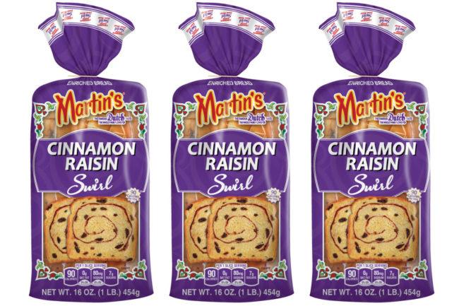 Martin's Famous Cinnamon Raisin Swirl bread