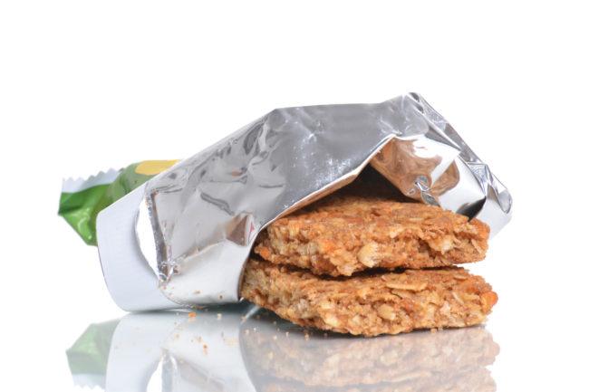 Flexible packaging for granola bar
