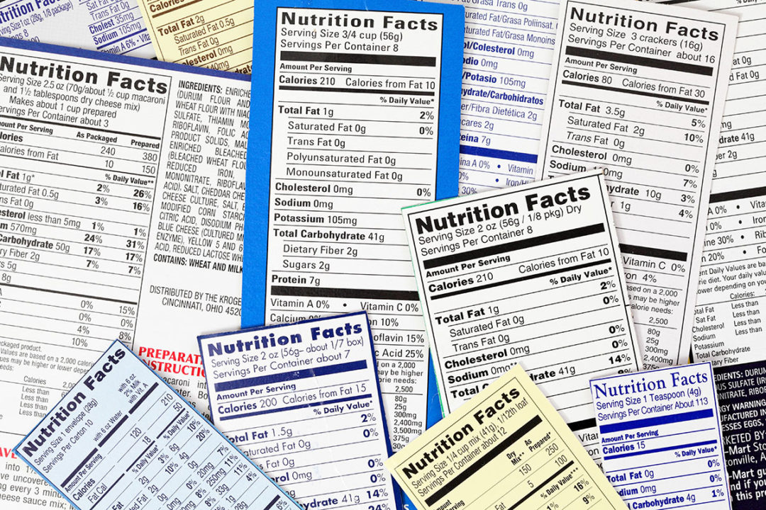 Nutrition Facts Panel guidance