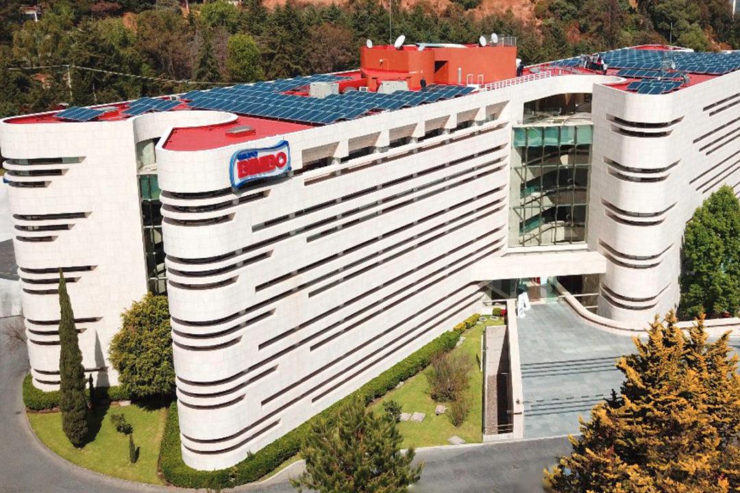 Grupo Bimbo facility with solar panels