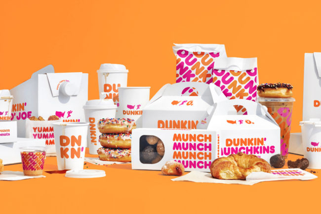 New Dunkin' packaging