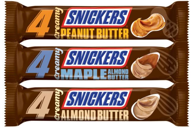 Creamy Snickers bars