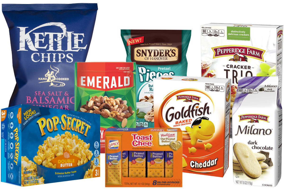 Campbell and Snyders Lance snacks