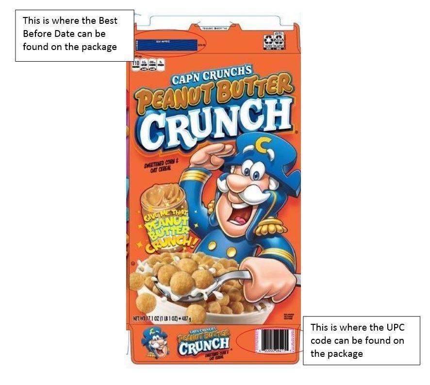 Cap'n Crunch's Peanut Butter Crunch recall