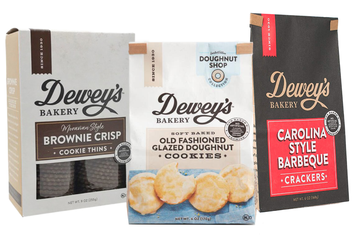 Deweys Bakery new soft baked cookies, crackers and Moravian style cookie thins