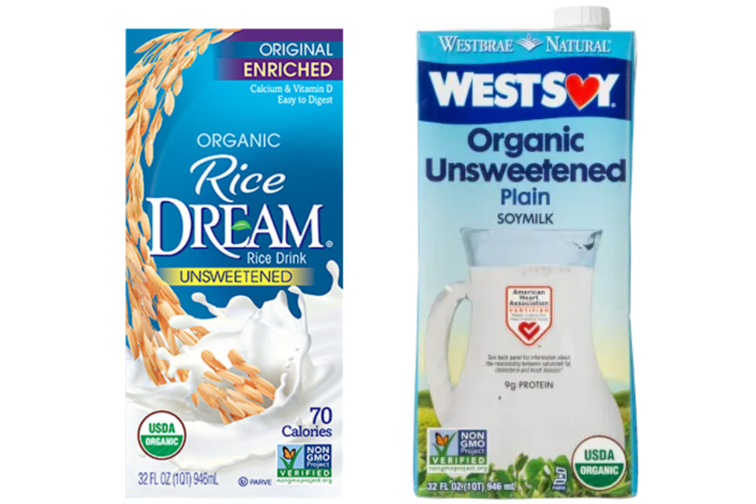 Dream and WestSoy plant-based milks