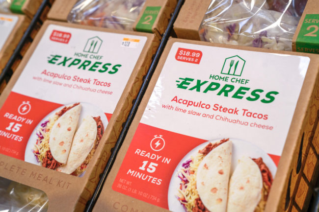 Kroger Home Chef Express kits