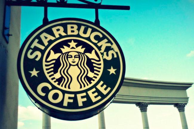 Starbucks EMEA sign