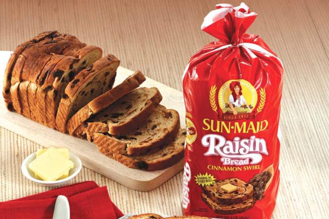 Sun-Maid raisin bread, Flowers Foods