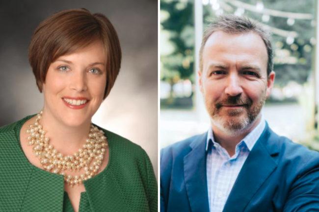Betsy Booren and Brandon Partridge, GMA