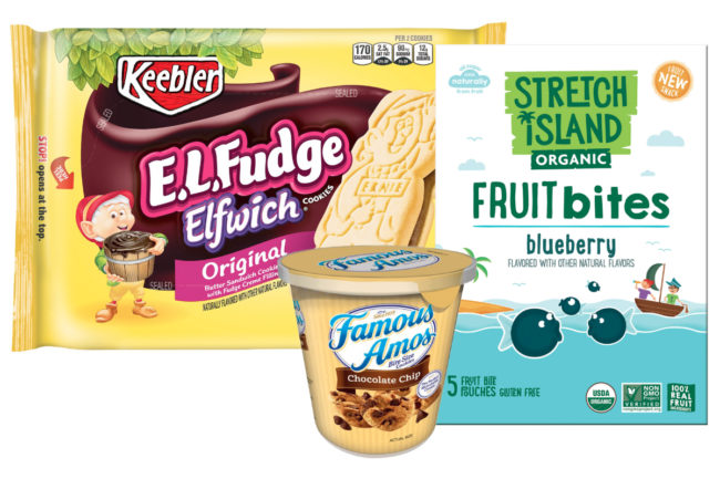 Kellogg cookies and fruit snacks