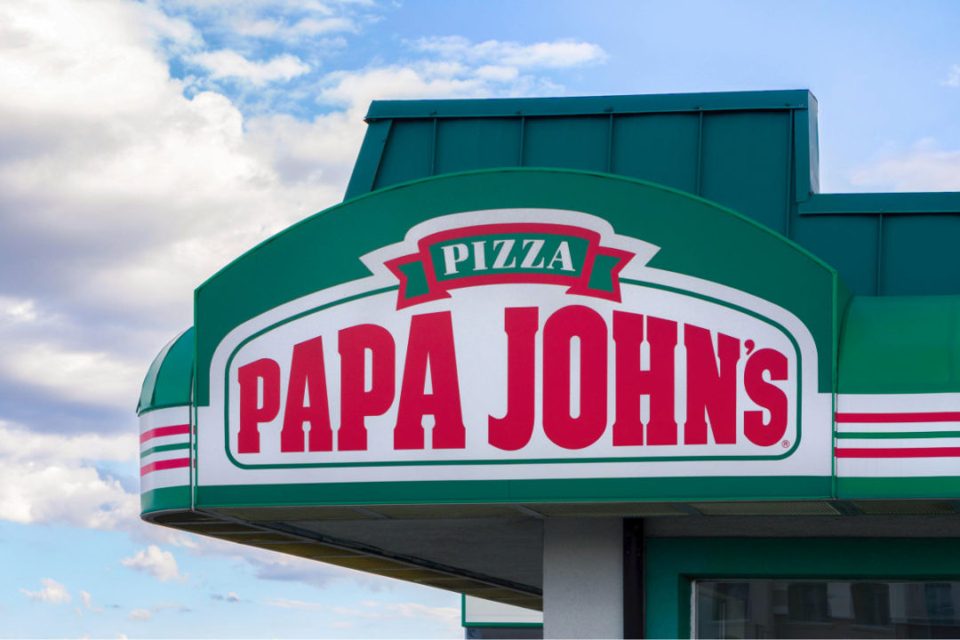 Papa John's Pizza restaurant sign