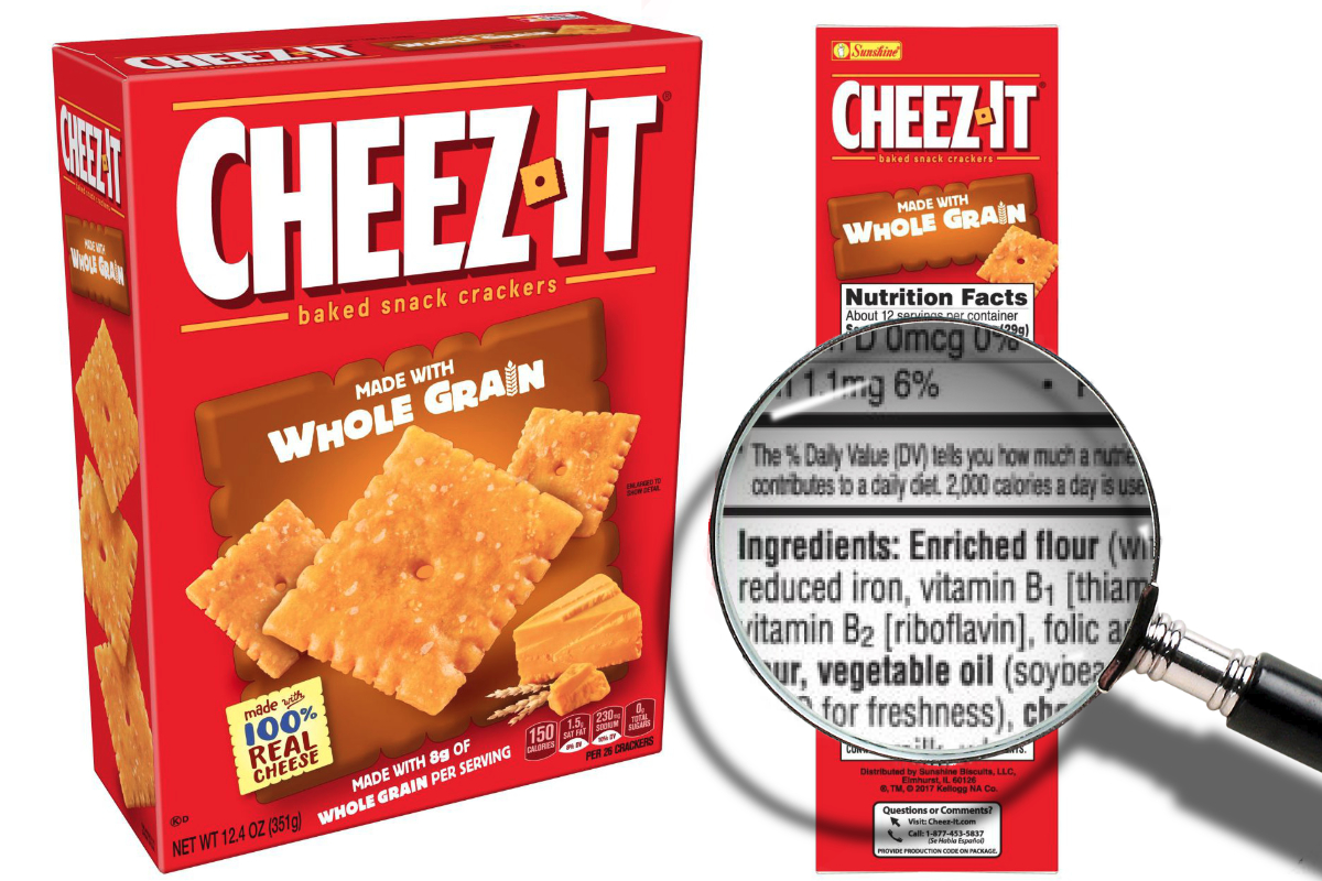 Cheez-It whole grains claim