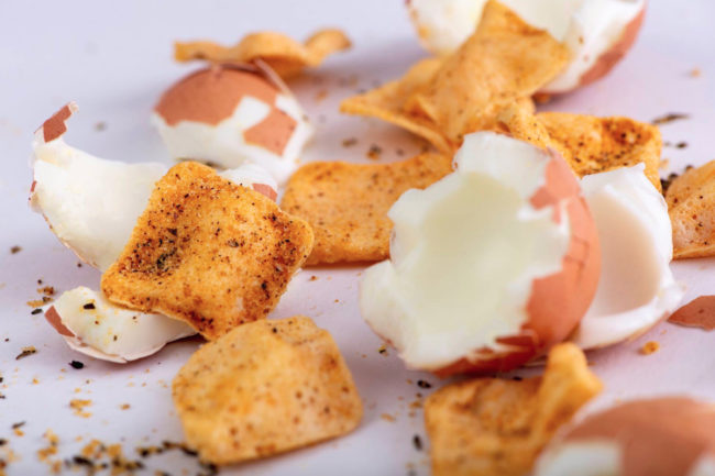 Quevos egg white chips