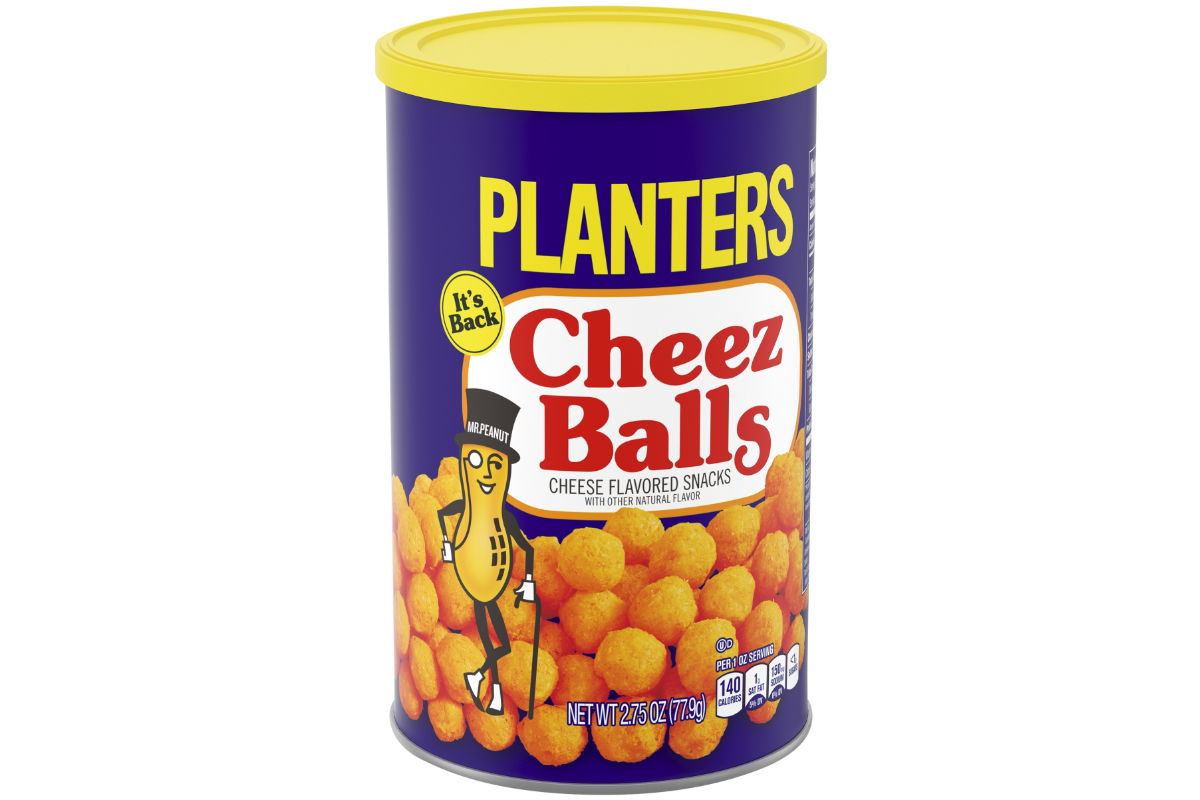 Planters Cheez Balls and Cheez Curls returning to market | 2018-06 on kraft kool-aid, amedeo obici, kraft cabinets, kraft stove top stuffing, grey poupon, mr. peanut, kraft easy cheese, kraft cool whip, kraft capri sun, kraft foods, capri sun, kraft dinner, kraft boxes, kraft vegemite, kraft tools, maxwell house, oscar mayer, boca burger,