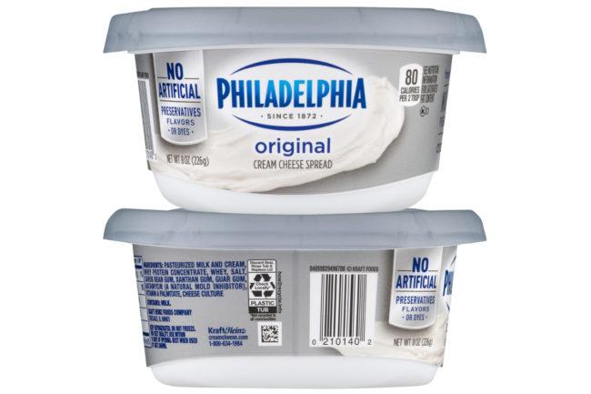 Philadelphia cream cheese tubs, Kraft Heinz