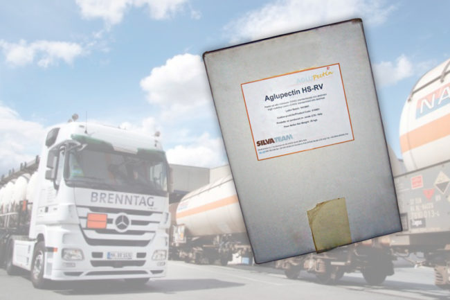 Brenntag truck and Aglupectin