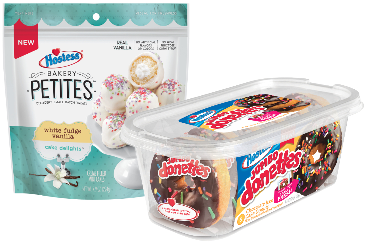 Hostess Bakery Petites and Jumbo Donettes