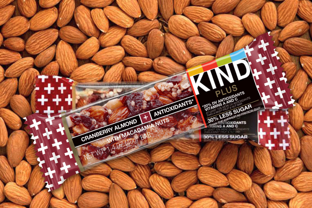 Kind Plus Cranberry Almond + Antioxidants With Macadamia Nuts bars