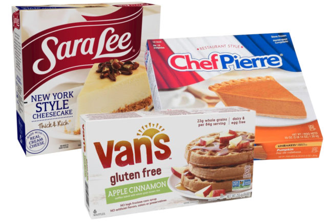 Sara Lee Frozen Bakery products