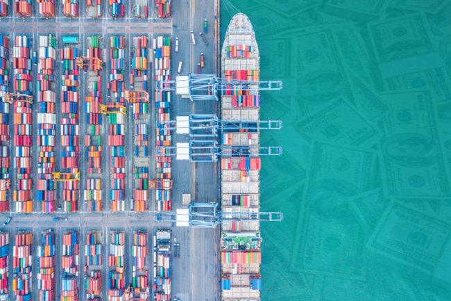 Import tariffs cargo ship