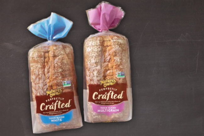 Natures Own Perfectly Crafted bread, Flowers Foods