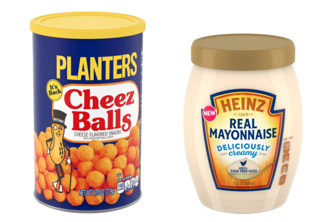 Planters Cheez Balls and Heinz Mayonnaise, Kraft Heinz