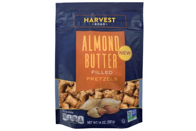 Harvest Road almond butter-filled pretzels
