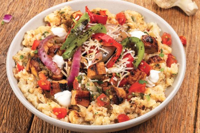Qdoba Cauli-Mash Low-Carb Chicken Bowl