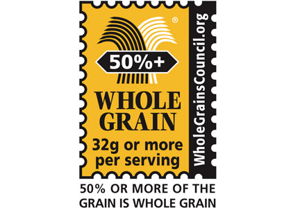 50%+ whole grains stamp