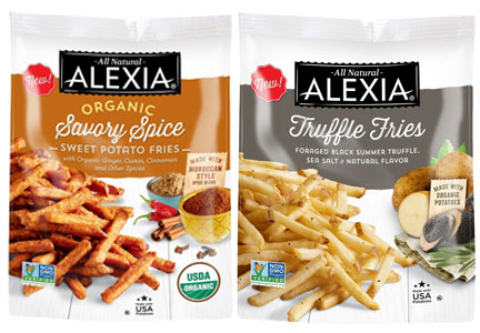 Alexia organic sweet potato fries and truffle fries, ConAgra Foods