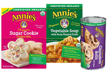 Annie's organic baking mixes, soups, frozen dough - General Mills
