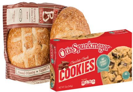Aryzta La Brea Bakery bread and Otis Spunkmeyer cookies