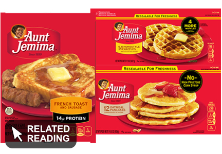 Pinnacle Foods reducing Aunt Jemima frozen food s.k.u.s