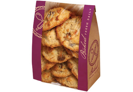 Fresh-baked cookies from supermarket bakery