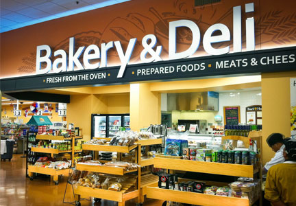 Bakery and deli at supermarket
