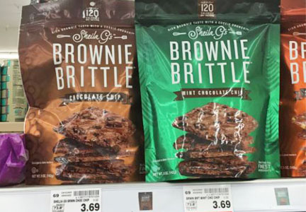 Brownie Brittle on shelves at Target