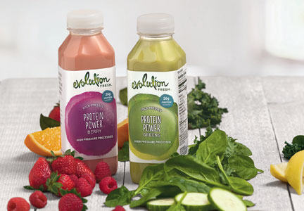 Evolution Fresh smoothies