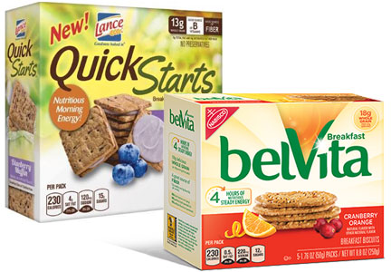 Belvita breakfast biscuits, Snyder's-Lance QuickStarts