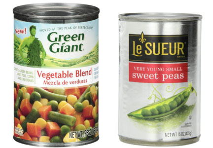 B&G Foods, Green Giant vegetables, Le Seur vegetables