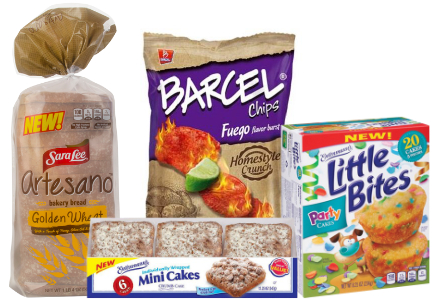 Grupo Bimbo brands - Sara Lee Artesano, Barcel, Entennman's Little Bites and Mini Cakes