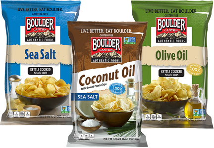 Boulder Canyon kettle chips, Inventure Foods