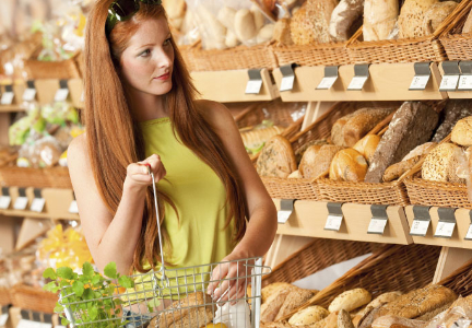 Millennial bread shopping