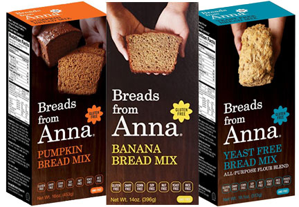 Breads from Anna bread mixes