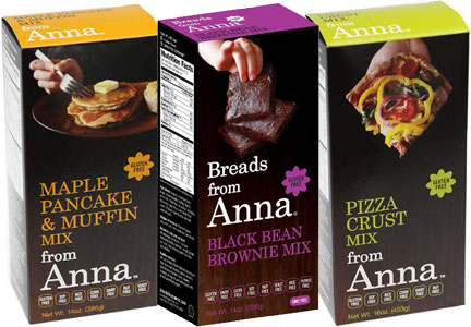 Breads from Anna baking mixes - pancake, brownie, pizza