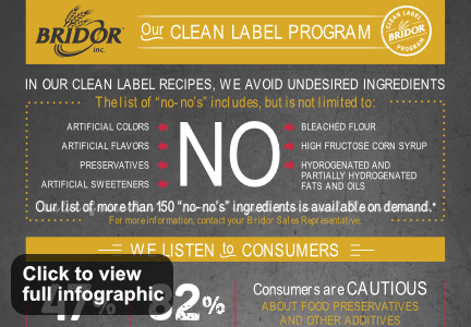 Bridor clean label program infographic